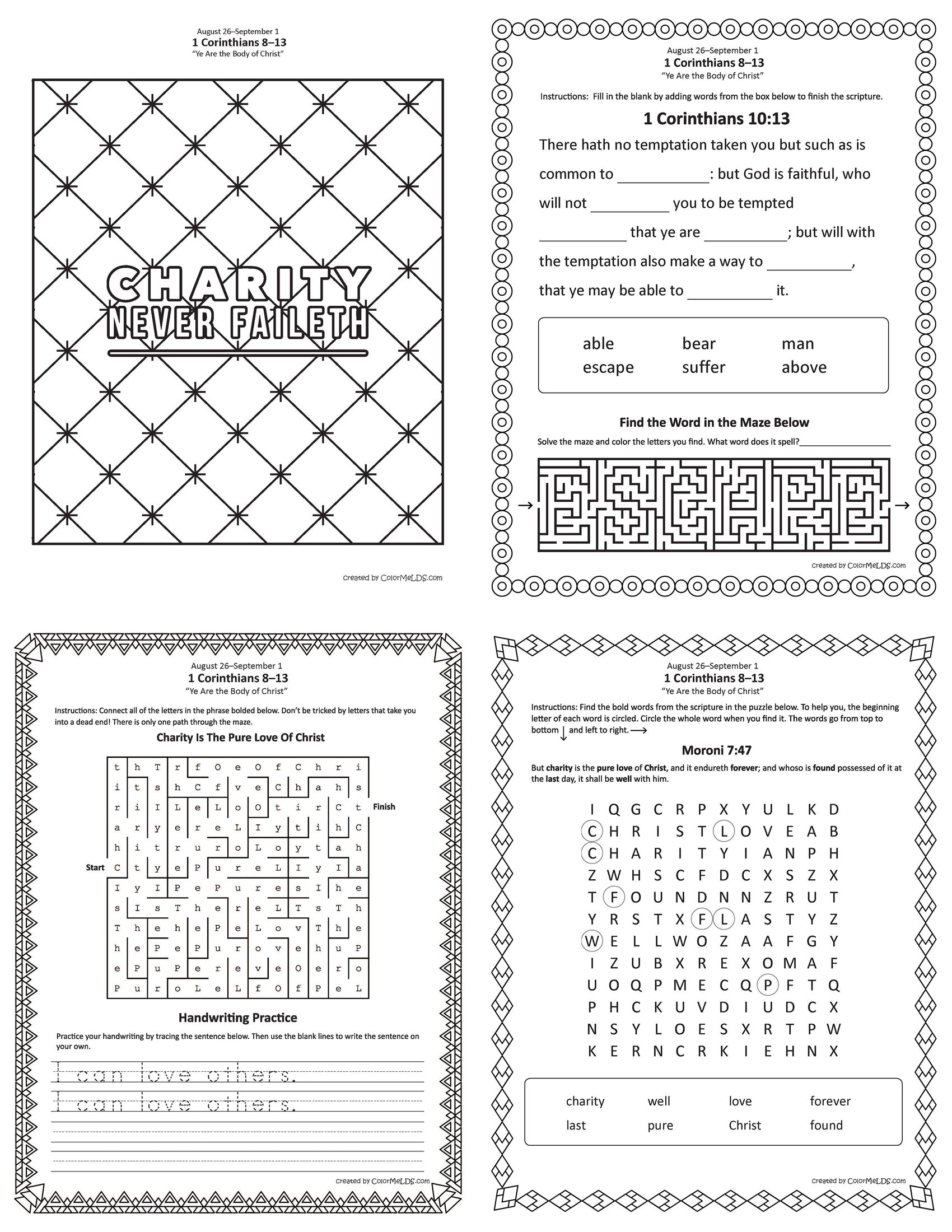 Lesson 34 Junior Primary Come Follow Me 2019 Puzzles Worksheets And Handouts Lds Primary Lessons Primary Lessons Kids Sunday School Lessons