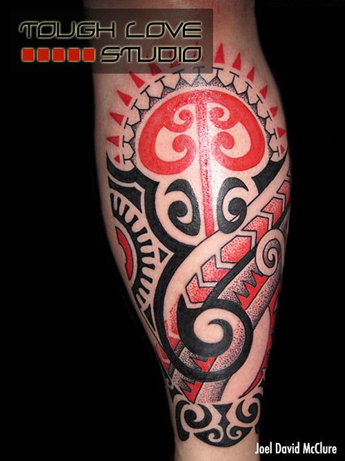 3de490aaf Red & Black Custom Tribal Tattoo | Joel David McClure | Tough Love Studio |  #tattoos #tattoo #tribal