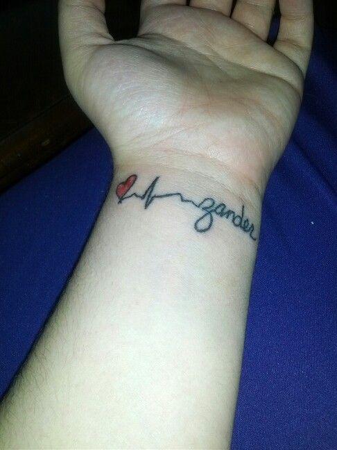 Side Wrist Name Tattoos : wrist, tattoos, Carson, Trojcak, Ink_o.0, Signature, Tattoos,, Heartbeat, Tattoo