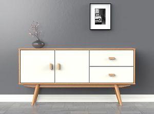 Scandi Sideboard Large White Buffet Scandinavian Retro Furniture Decor Scandinavian Furniture Design