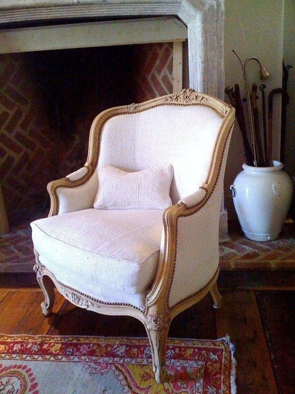 Antique linen upholstery French Chairs - Antique Linen Upholstery French Chairs Let's Sit Pinterest