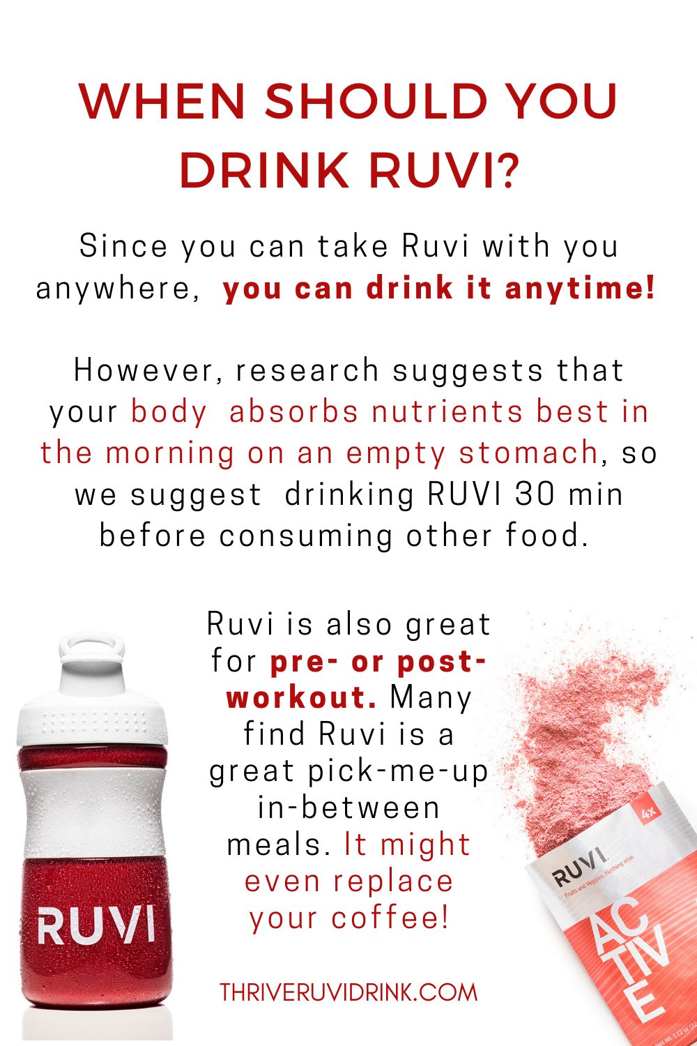 When Should You Drink Ruvi Fruit Nutrition Clean Eating Lunch Nutrition Diet Plan