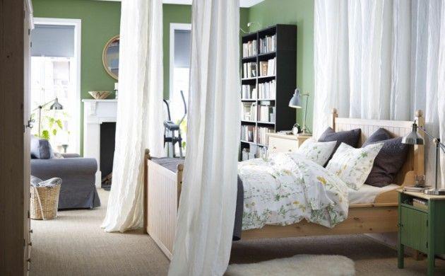 Schlafzimmergestaltung Ideen Wandfarbe grün Himmelbett Everything - wandfarben wohnzimmer grun