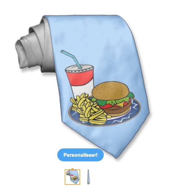 Burger menu tie