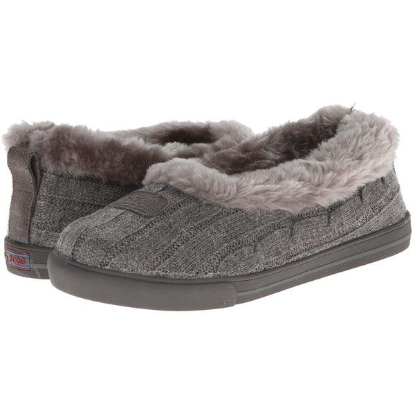 BOBS from SKECHERS Mad Crush (Charcoal) Women's Shoes ($27) ❤ liked on