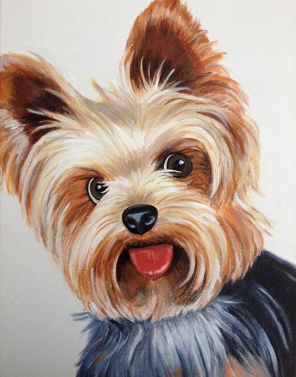 Carlsbad Ca Yorkie Painting Dog Paintings Dog Art