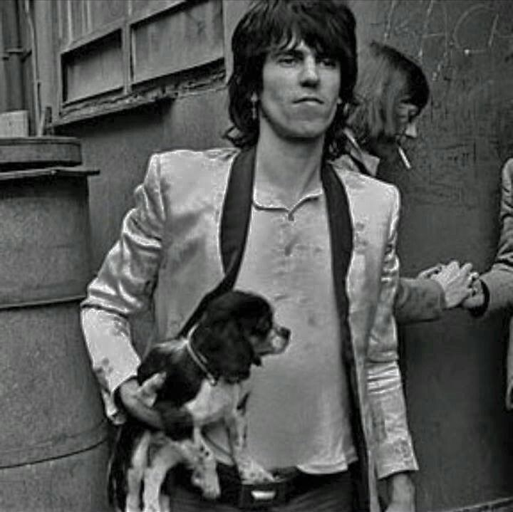 Keith Richards and pup                                                       …