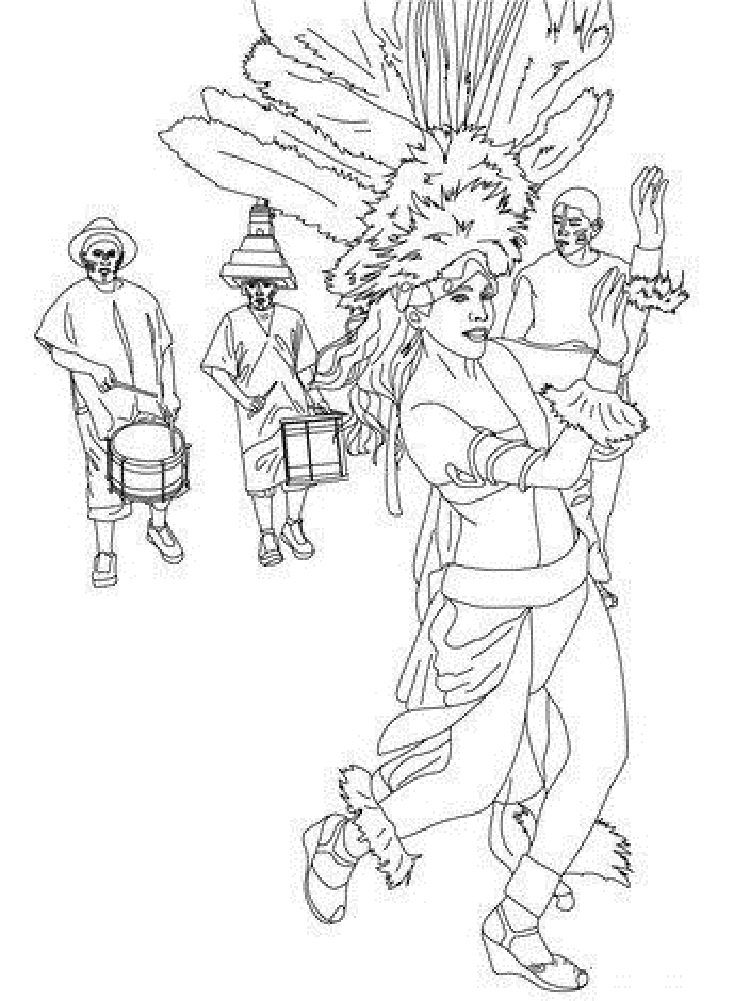 Brazil Carnival Coloring Pages Coloring Pages Pirate Coloring Pages Brazil Carnival