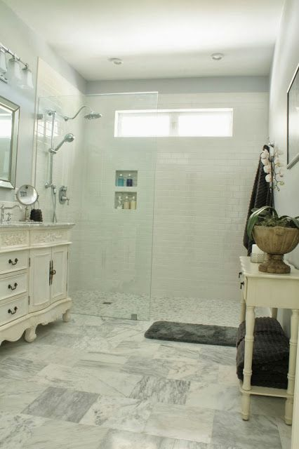 Bathroom Zero Time Dilemma the comforts of home: zero clearance, walk in shower without a