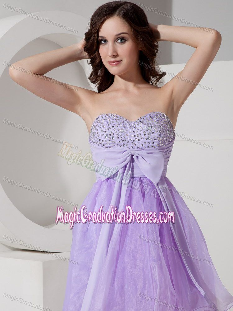 Beautiful Lilac A-Line Sweetheart Graduation Dresses for Middle ...