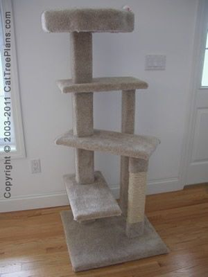Cat accessories cat tree plans cat tree and scratching post for Build your own cat scratch tower