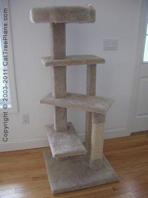 Simple Cat Tree Plans DIY Free Download Garage Material ... |Easy Cat Tree Plans