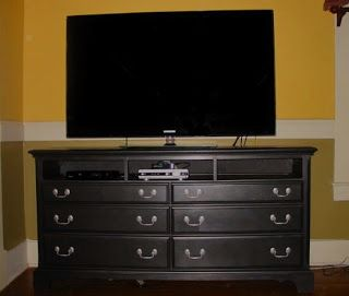 Journey To Living A Creative Life From Dresser To Tv Stand Dresser Tv Stand Swivel Tv Stand Tv Stand Room Divider