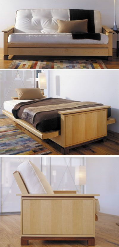 Futon Bed Woodworking Plan Indoor Home Bedroom Furniture Project Wood