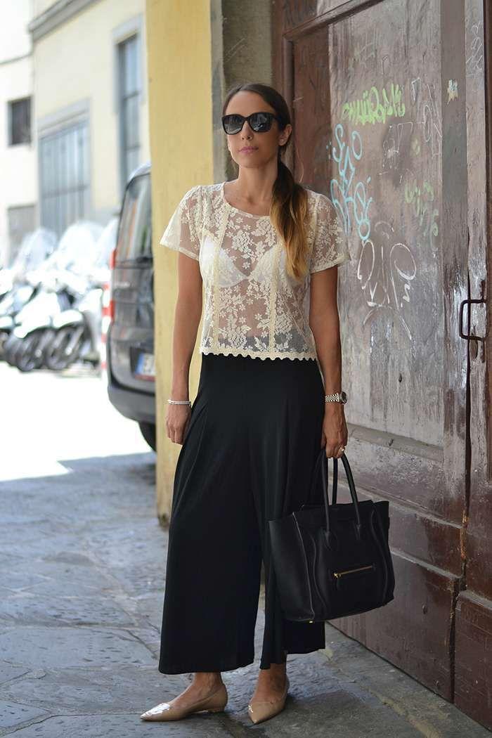 222e6edfdfd70e Scarpe per un pantalone culotte - Pantaloni culotte con ballerine ...