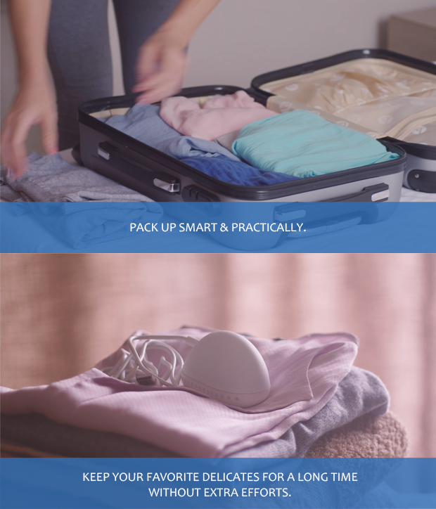 Game changing portable washer to clean your clothes, in an
