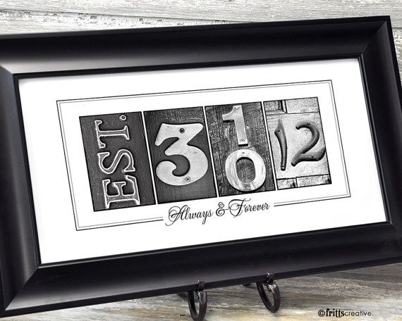 PERSONALIZED WEDDING Gift, Wedding Date Frame or Print, Personalized ...