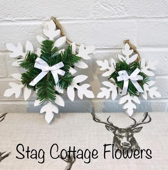 Christmas snowflake, Wooden Christmas, Door hangers, Wall hangers, wooden snowflake , Wall art, Fest #hangersnowflake