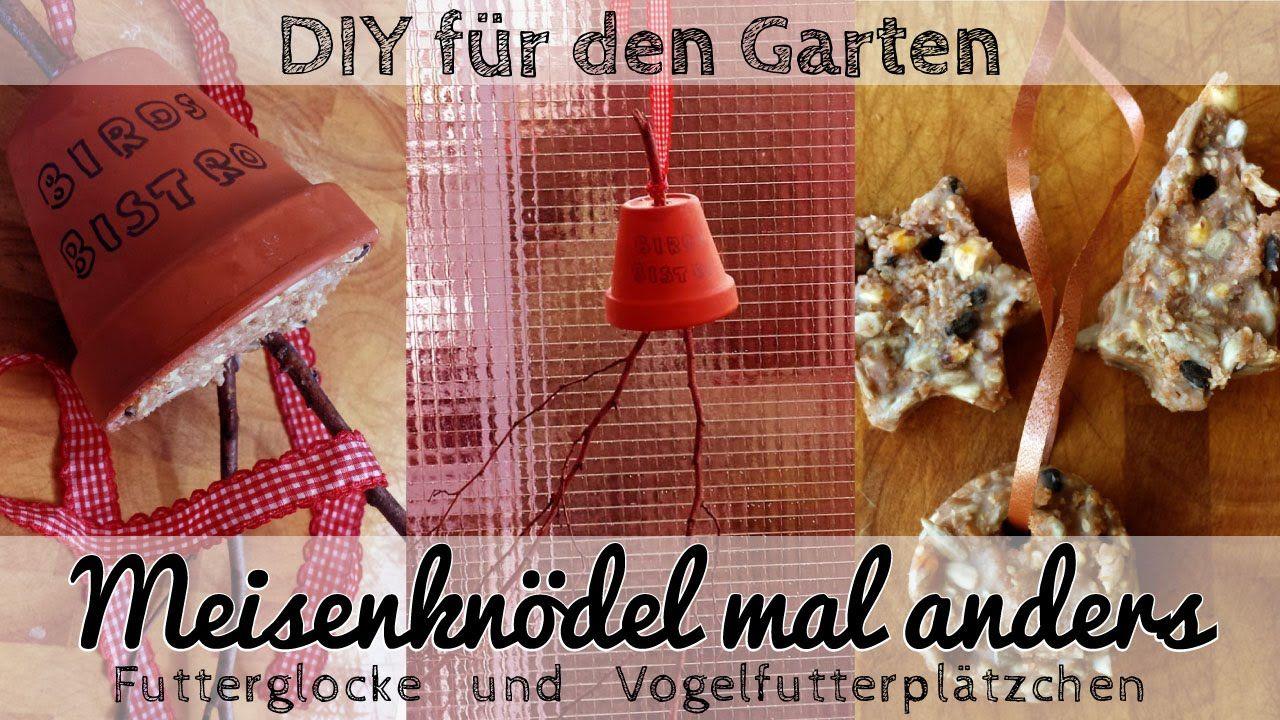 Meisenknödel Mal Anders: DIY Futterglocke Und Vogelfutterplätzchen   Gartendeko  Selbst Machen