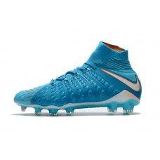 buy popular 855e7 87e78 Nike Hypervenom Phantom III DF FG Botas de futbol Azul Blanco
