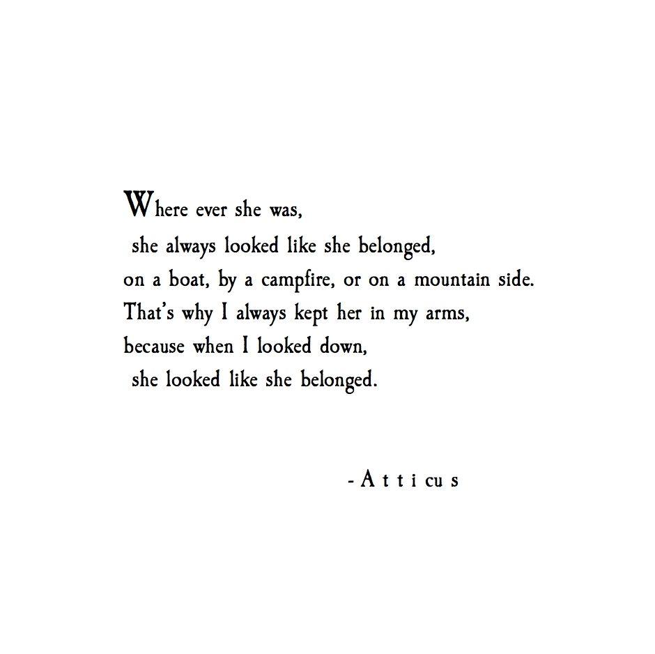'Belong' #atticuspoetry #atticus #poetry #poem #belong #loveherwild