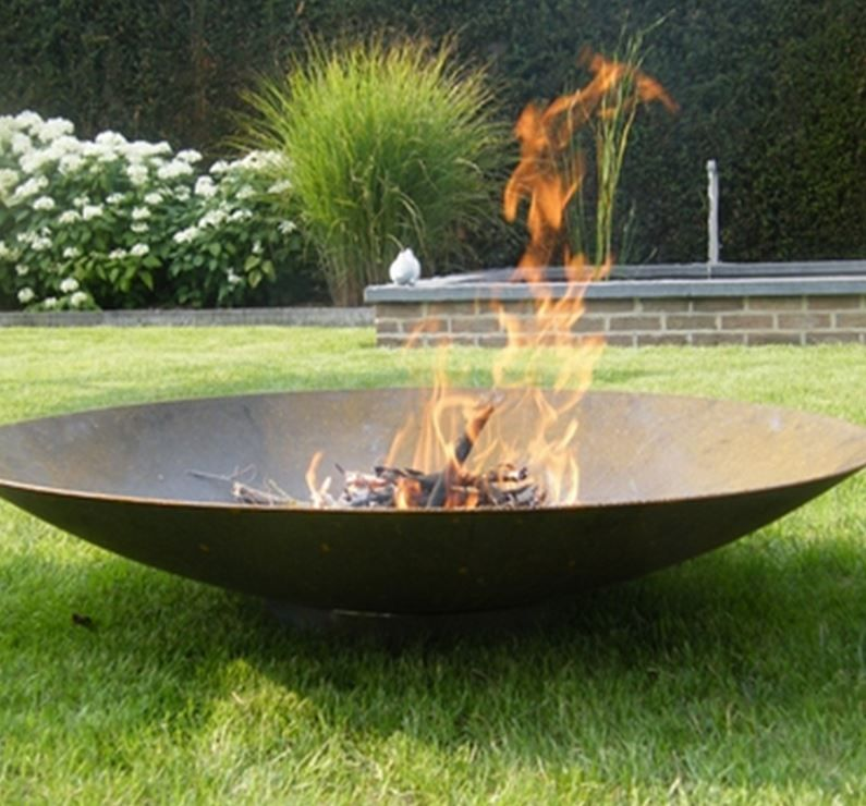 Corten Steel Fire Bowl With Images