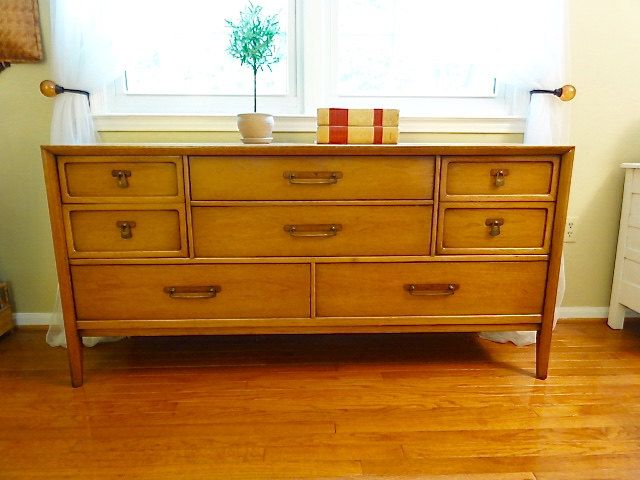 Mid Century Modern Drexel Meridian Dresser / Credenza / Buffet By Bluebell  On Etsy