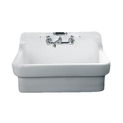American Standard Country Vitreous China 30x22x23 87 2 Hole Single Bowl Kitchen Sink In White Home Depot Canada Country Sink Country Kitchen Sink Sink