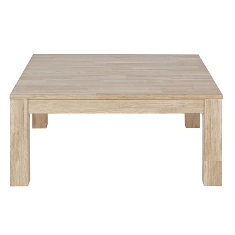 Table Basse Carree En Chene Massif Naturel Largo Table Basse Table Blanche Et Bois Table Basse Carree