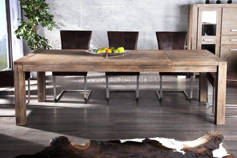 7b63f954c130 Luxusný rozťahovací stôl do modernej jedálne. Jedálenský stôl z masívneho  agátového dreva. 609e