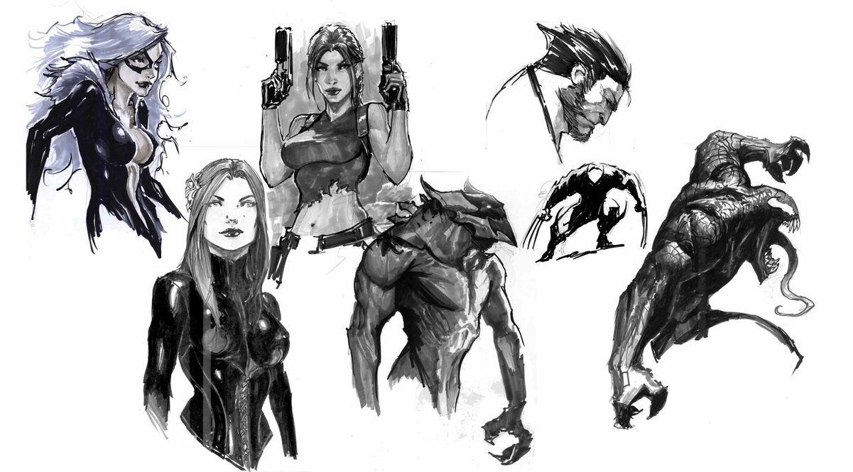 Beautiful Sketches by Stjepan Sejic