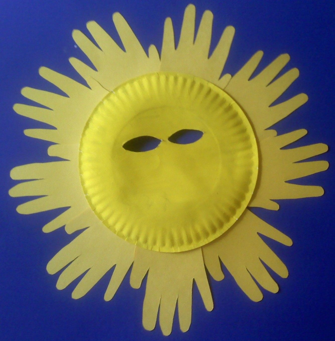 Crafts For Preschoolers Paper Plate Sun Mask