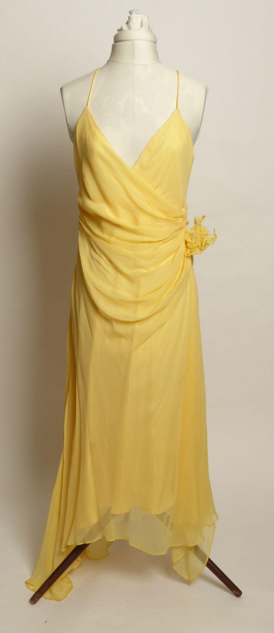 Circa ss shelli segal yellow silk dress shelli segal silk