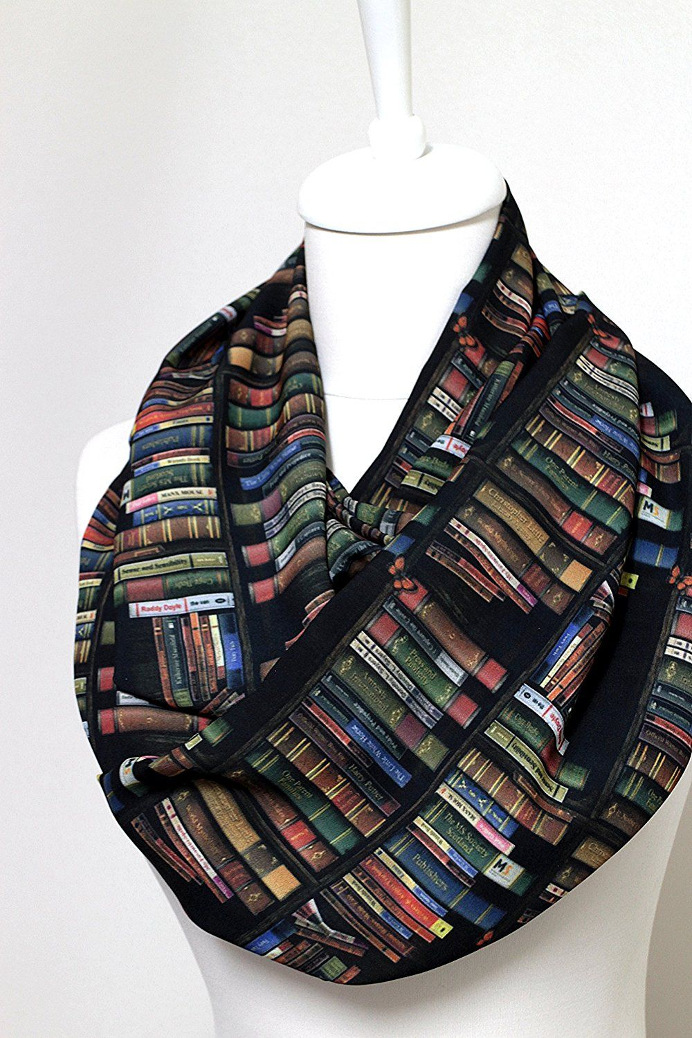 40 OFF Handmade Library Bookshelves Infinity Scarf