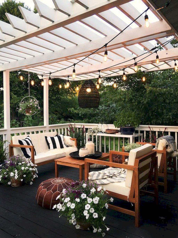 60 Stunning Backyard Patio And Deck Design Ideas | Backyard & Front