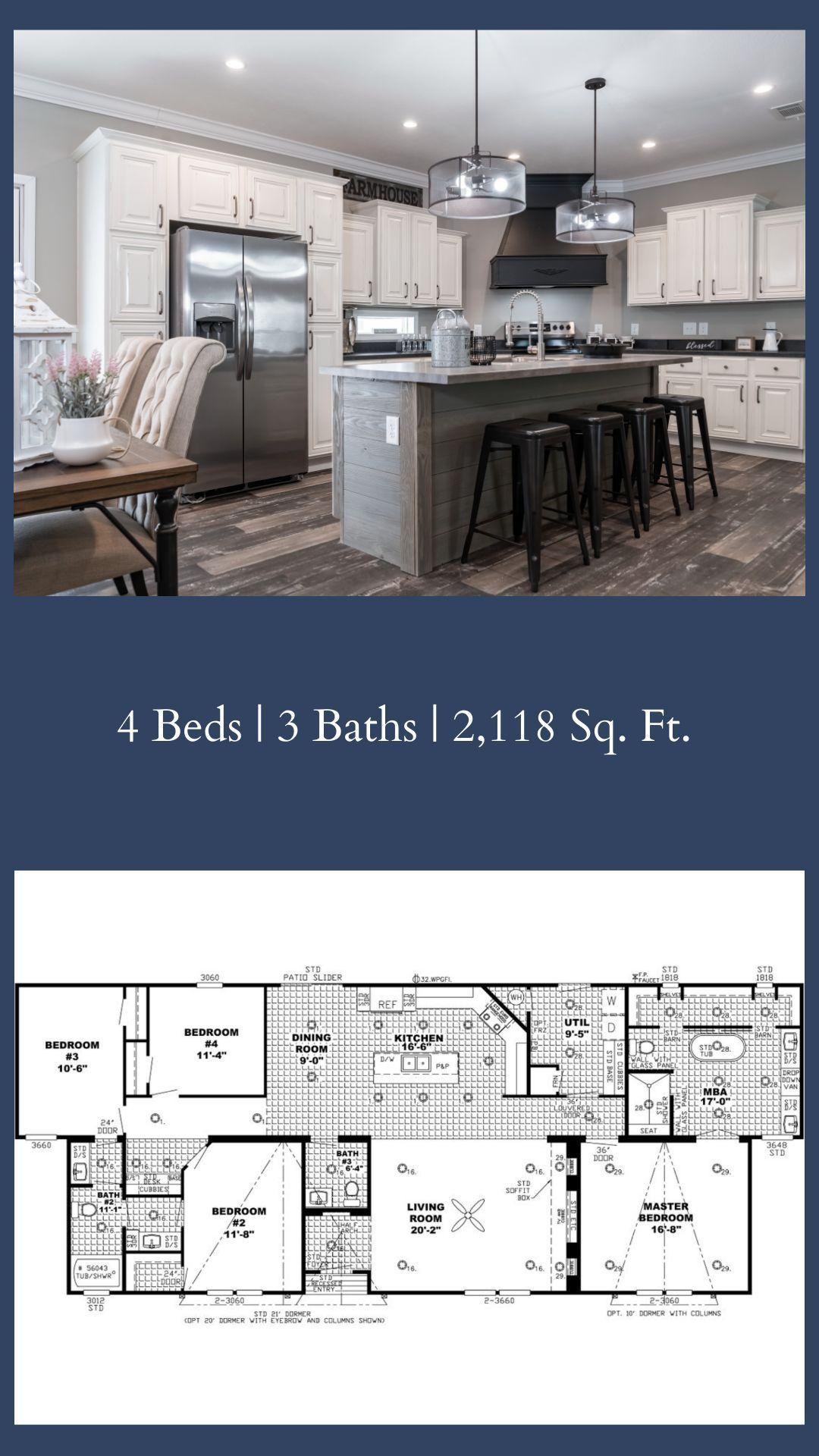 Click For 3d Tour 120k 58car32663ah Mobile Home Floor Plans Modular Home Floor Plans Manufactured Home