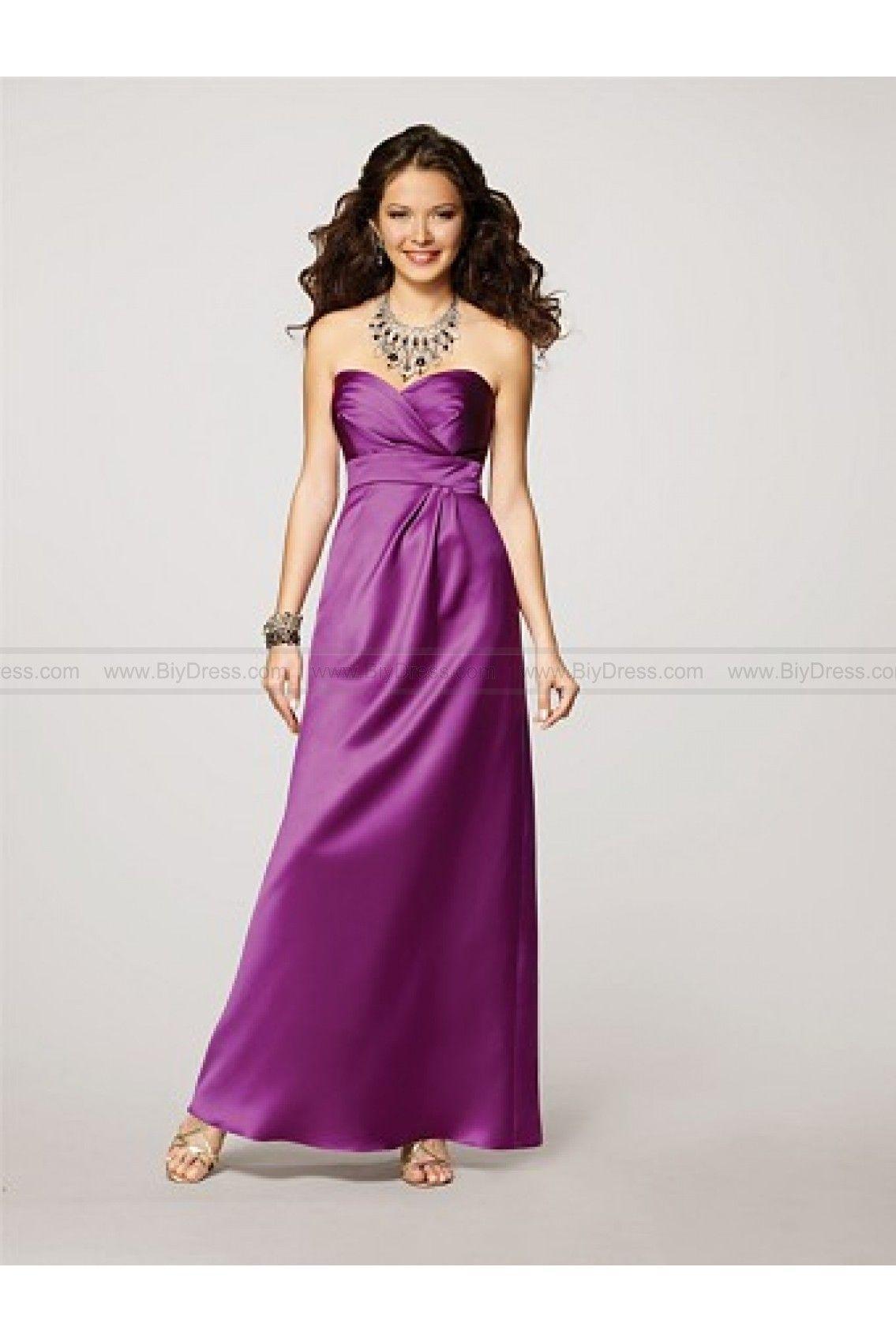 Sweetheart Satin Ruched Purple Bridesmaid Dress | Bridesmaid Dresses ...