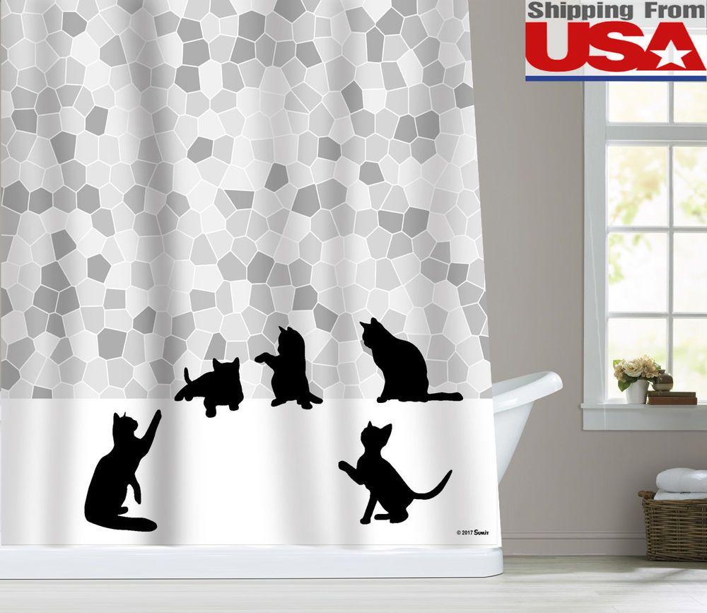Matching Tone Animal Cat Mosaic Grary White Sunlit Black Cat