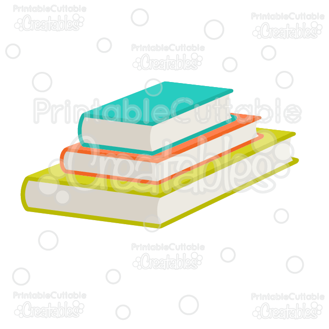 Stacked Books SVG Cut Files & Clipart - Cuttable SVG Files for your Silhouette or Cricut cutting machines! Limited Commercial Use included! #scrapbooking #cardmaking #papercraft #vinylideas #vinylcrafts #cutfiles #cutfilessvg #cuttingfiles #svgfiles #scrapbookcutting #partyprintables  #silhouettefiles #cricutfiles #backtoschool #scrapbookembellishments