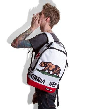 California Republic Backpack Sprayground Backpacks Bags And Accessories Cali Trippin Deluxe