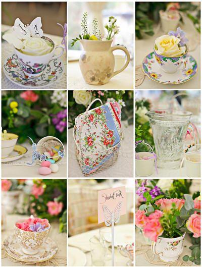 Vintage Tea Party Shabby Chic Inspiration wedding idea Pinterest