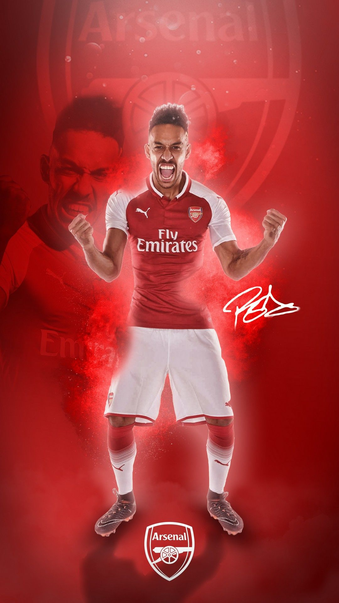 Aubameyang Arsenal Players Android Wallpaper Best Android