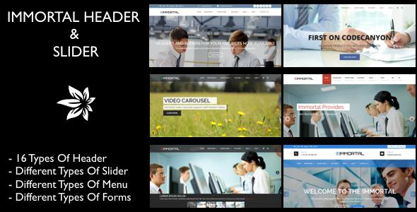 Immortal Header & Slider (Miscellaneous) Download