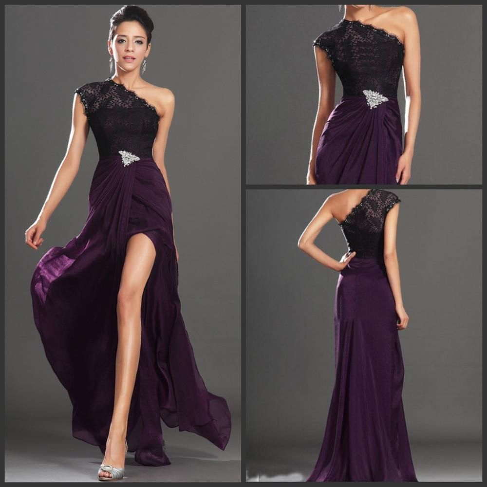 Plum Evening Dresses | Dresses | Pinterest | Dark purple prom ...