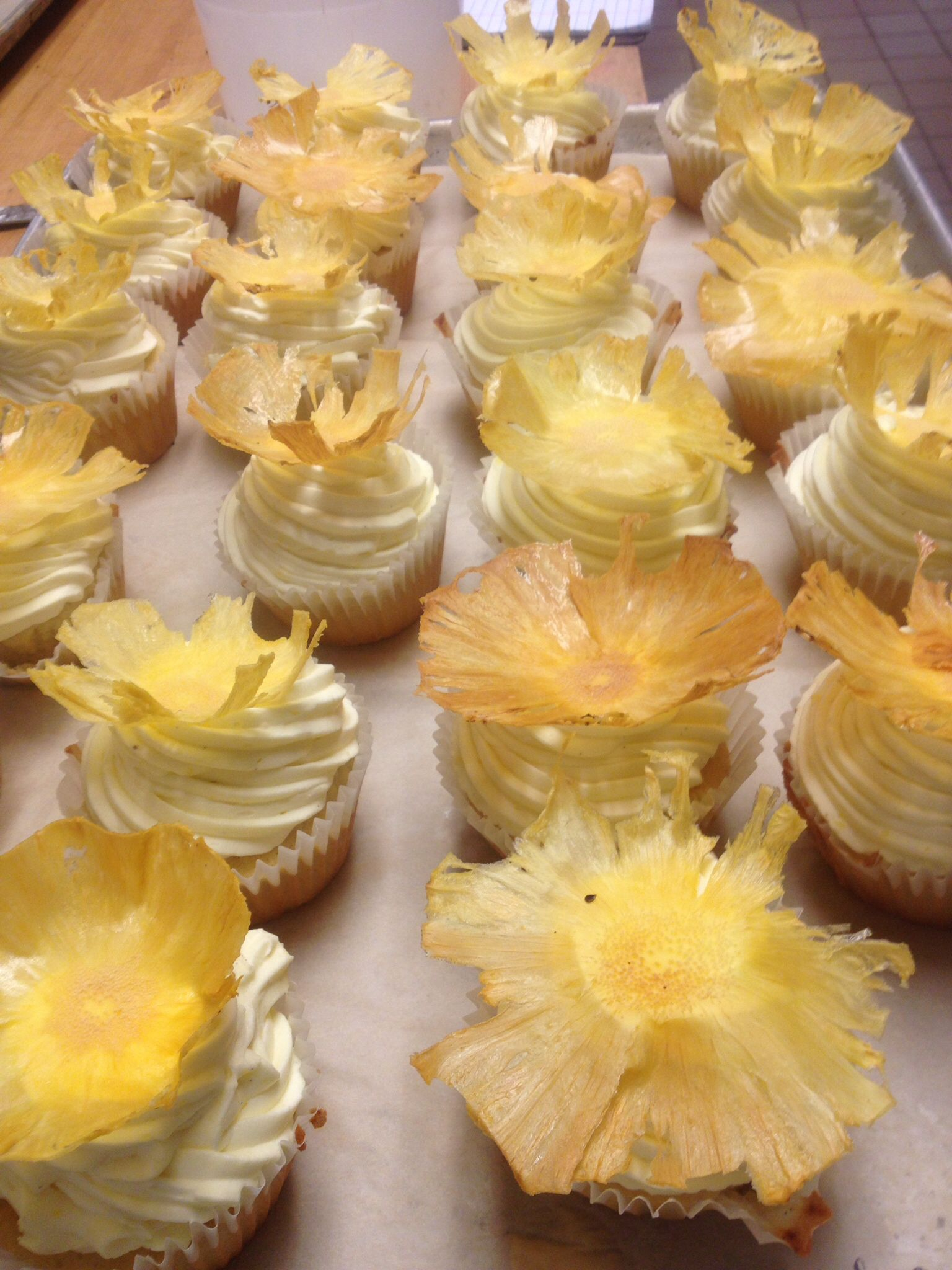 Pineapple Coconut Cupcakes!