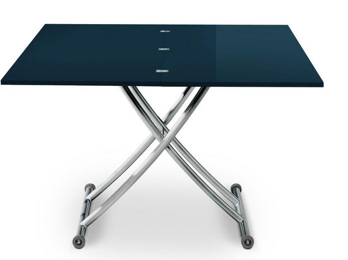 Optez Pour Cette Table Basse Relevable Cannes Bleu Laque Au Meilleur Prix Table Basse Relevable Table Basse Table Et Chaises