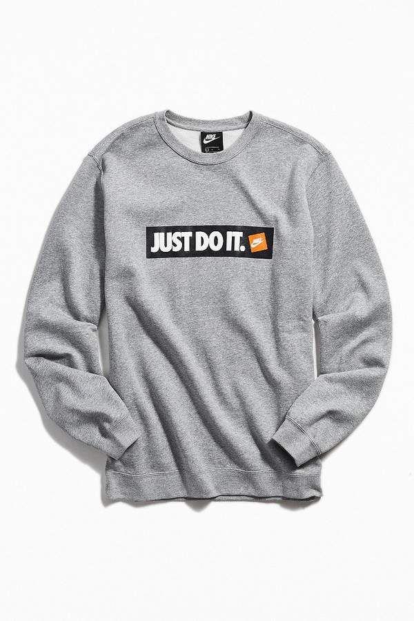 2482de50c7 Nike Just Do It Logo Crew-Neck Sweatshirt