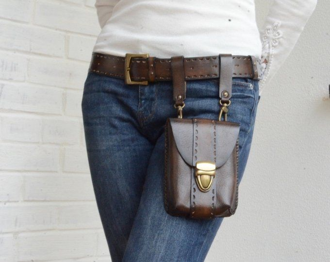 68b1b93ea Leather fanny pack for women Leather hip bag fanny pack leather belt ...