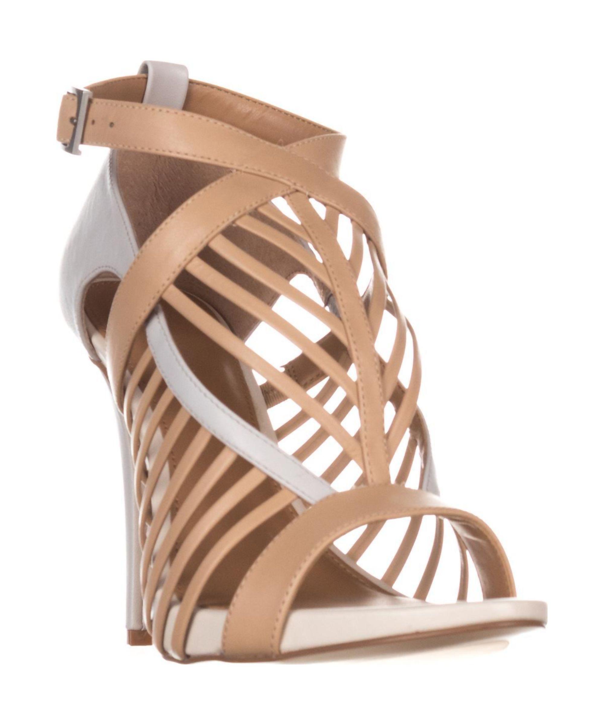 CALVIN KLEIN | Calvin Klein Naida Strappy Dress Sandals, Sandstorm/Vesper  Gray #Shoes