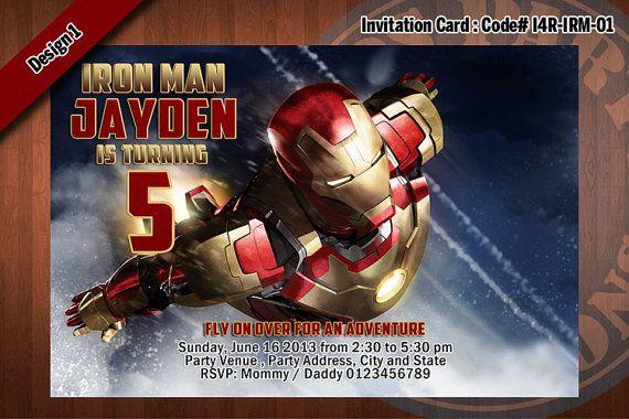 Personalized iron man printable birthday party invitation for iron personalized iron man printable birthday party invitation for iron man birthday 4x6 filmwisefo